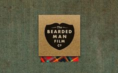 Ryan D. Harrison Design » Bearded Man Film Co. #logo #beard #texture