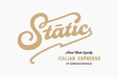 SK_StaticCoffee_01 #lettering #branding #logo #type #typography