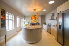 Stylish Outlook Curved Bespoke Kitchen by David Glover Furniture #interior #modern #design #furniture #kitchen
