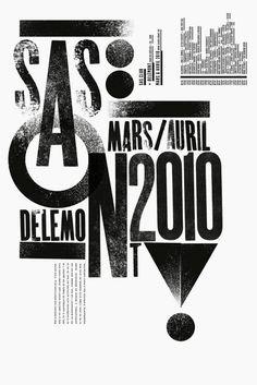 (via Dimitri Jeannottat) #poster #typography