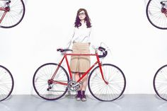 Beautifully Offbeat Photography (13 photos) - My Modern Metropolis #nerd #red #bicycle #girl #bike