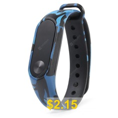 Camouflage #Replacement #Wristband #for #Xiaomi #Mi #Band #2 #- #BLUE #IVY