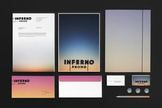 Inferno Identity on Behance #lettering #branding #ipad #black #identity #logo #pencil #typography