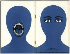 Picturing Anarchy: The Graphic Design of Rufus Segar. | Recto|Verso #bizarre #eyes #design #head #cover #illustration #strange #blue #surreal #mouth