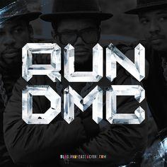 """Run DMC"" #handmade #typography #rundmc #hiphop"