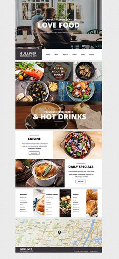 Gulliver – Modern Cafe and Restaurant WordPress Theme