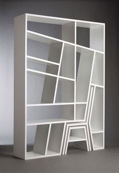 Bookshelf Porn #chair #furniture #stool #shelves