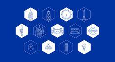 Selenium Conf. Global Identity - PS Design | Branding & Design Studio #icon #icons #icondesign #illustration #city #building #line #outline