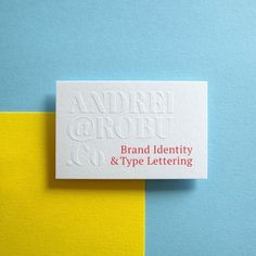 Andrei Robu business cards. www.robu.co #business card #card #letterpress #deboss #blind