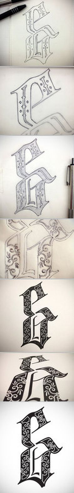 Amperos font, full process, hand lettered ampersand series, by Petre Spassov