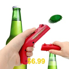 Creative #Pistol #Ejection #Bottle #Opener #- #RED