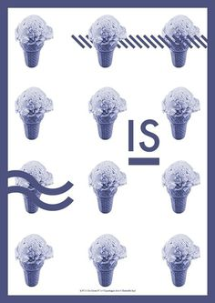 Is // Ice Cream Posters by Christoffer Juul, via Behance