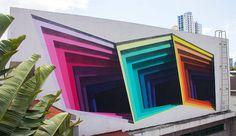 1010-2 #1010 #mural #illusion #portal #colour