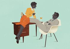 Illustrations by Jack Hughes — AGENT PEKKA #eases #modern #illustration #furniture #mid #men #century #mad