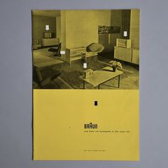 All sizes | Braun new range brochure | Flickr - Photo Sharing! #braun #mid #century modern