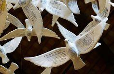 Suspended Together   Colossal #birds #pigeons #porcelain #mail