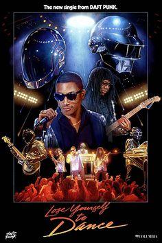 Daft Punk #yourself #punk #daft #1980s #poster #lose