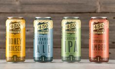 450 North Brewing Company #packaging #design #graphic