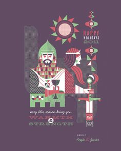 Javier Garcia Design // Work #holidays #garcia #geometric #illustration #character #javier