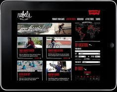 Levi's. Rebel's with a cause on the Behance Network #ipad #script #red #advertising