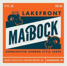 beer, maibock, bottle, design, orange, blue, ram