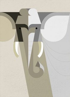 Style DAD #illustration #geometric #elephant