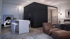 architecture modern interior Modern Apartment Displaying an Artistic Flare by INT2 Architecture