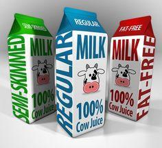 Milk Cartons on the Behance Network #branding #typography #4d #photoshop #cinema #milk #carton