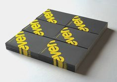 Seven : Lovely Stationery . Curating the very best of stationery design #angle #yellow #grey