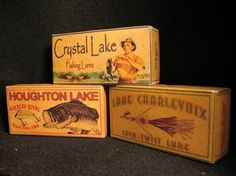 Welcome to VINTAGE STYLE FISHING LURE BOXES - Personalized for YOUR lake, stream, creek or bay #lures