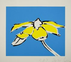 David Salle - Black Eyed Susan for Sale | Artspace #print #yellow #contemporary #art #flower #blue