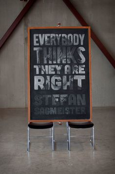 Week 7: Stefan Sagmeister on Behance #lettering #blackboard #design #chalk #typography