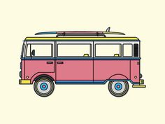 The Ol' VW #bus #surf #icon #retro #illustration #vw #california