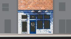 11_limestoneblue_storefront3 #facade #branding #storefront #design #graphic #restaurant #brand