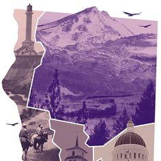 LA GRAPHICA #purple #design #map