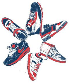 t-shirt prints on the Behance Network #shoes #print #kicks #sneakers #poster
