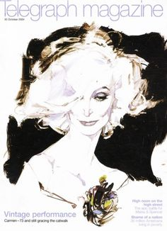 Telegraph Magazine October 2004 | MODESQUISSE #fashion #illustration #david #downton
