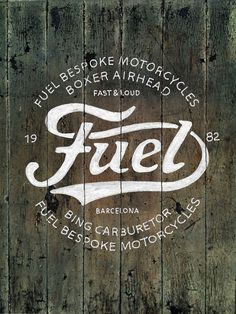 Fuel Motorcycles New logo on Behance #lettering #logo #drawn #type #hand