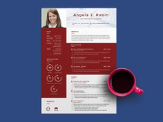 Robin Resume - Free PSD Resume Template with Modern Look