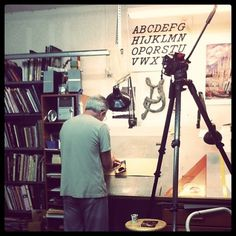 All sizes | Mark Oatis | Flickr - Photo Sharing! #lettering #signpainter #alphabet #studio
