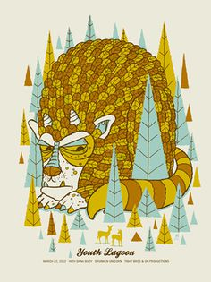YOUTH LAGOON  BEAST « Limited Edition Gig Posters « Methane Studios