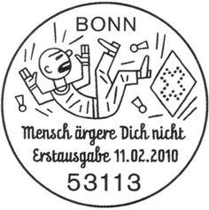 Mensch-aergere-Dich-nicht-Bonn #circle #stamp #germany #typography