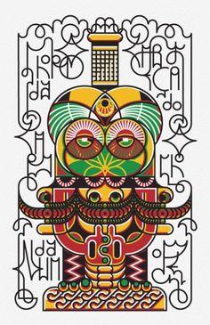 ILUSTRAÇÃO - AZ5CRINA!kiD! #vector #azucrina #illustration #art #jamaica #typography
