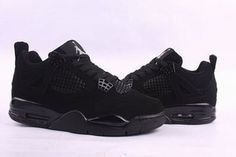 Nike Air Jordan 4 Retro Black Men's #shoes