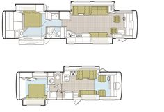Tiffin Motorhomes #vector #floorplan #illustration #architecture #exterior