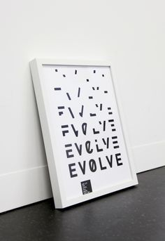 Tumblr #design #typography #evolve
