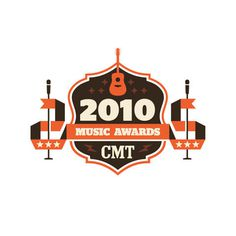 Logos Luke Bott #guitar #banner #red #crest #microphone #cmt #brown #lightning #2010 #star #music