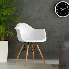 2 X Retro Replica Eames Dining Chairs DAW Office Cafe Side Armchair Beech White-buy-now-cheap-price-australia-30