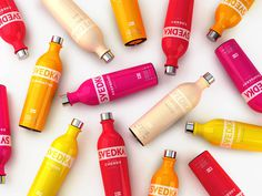 Svedka Flavored 2013 The Dieline #pink #orange #yellow #red