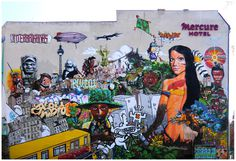 """""""Riot of colors"""" (Insurrecion de Colores) on the side wall of the Mercure Hotel in Berlin."""